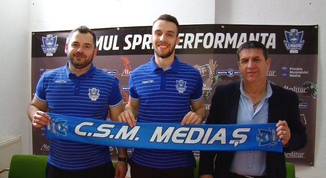 Andrei Iliescu a fost prezentat oficial la CSM Mediaș