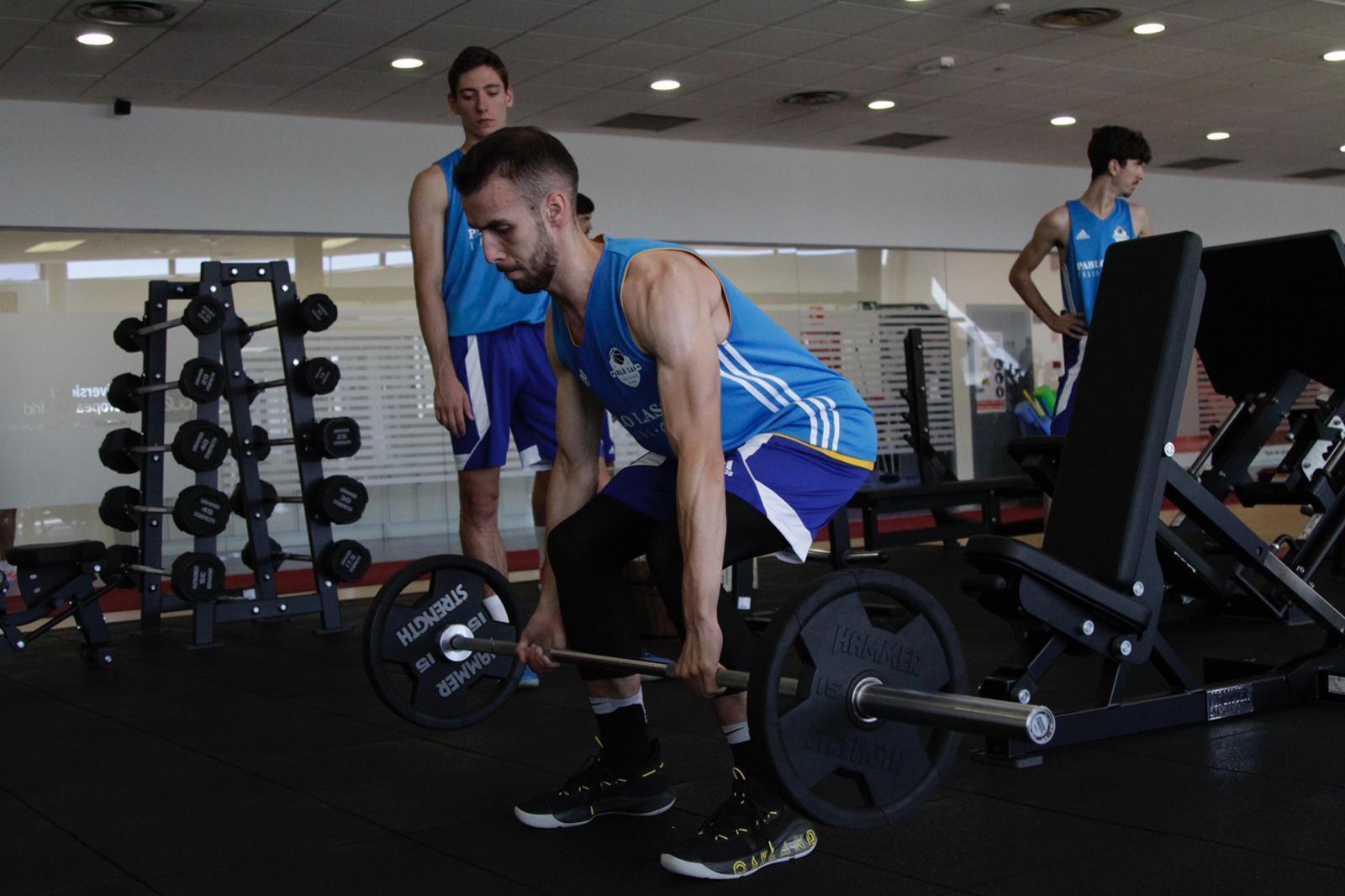 Andrei Iliescu în pregătire la Pablo Laso Training Camp